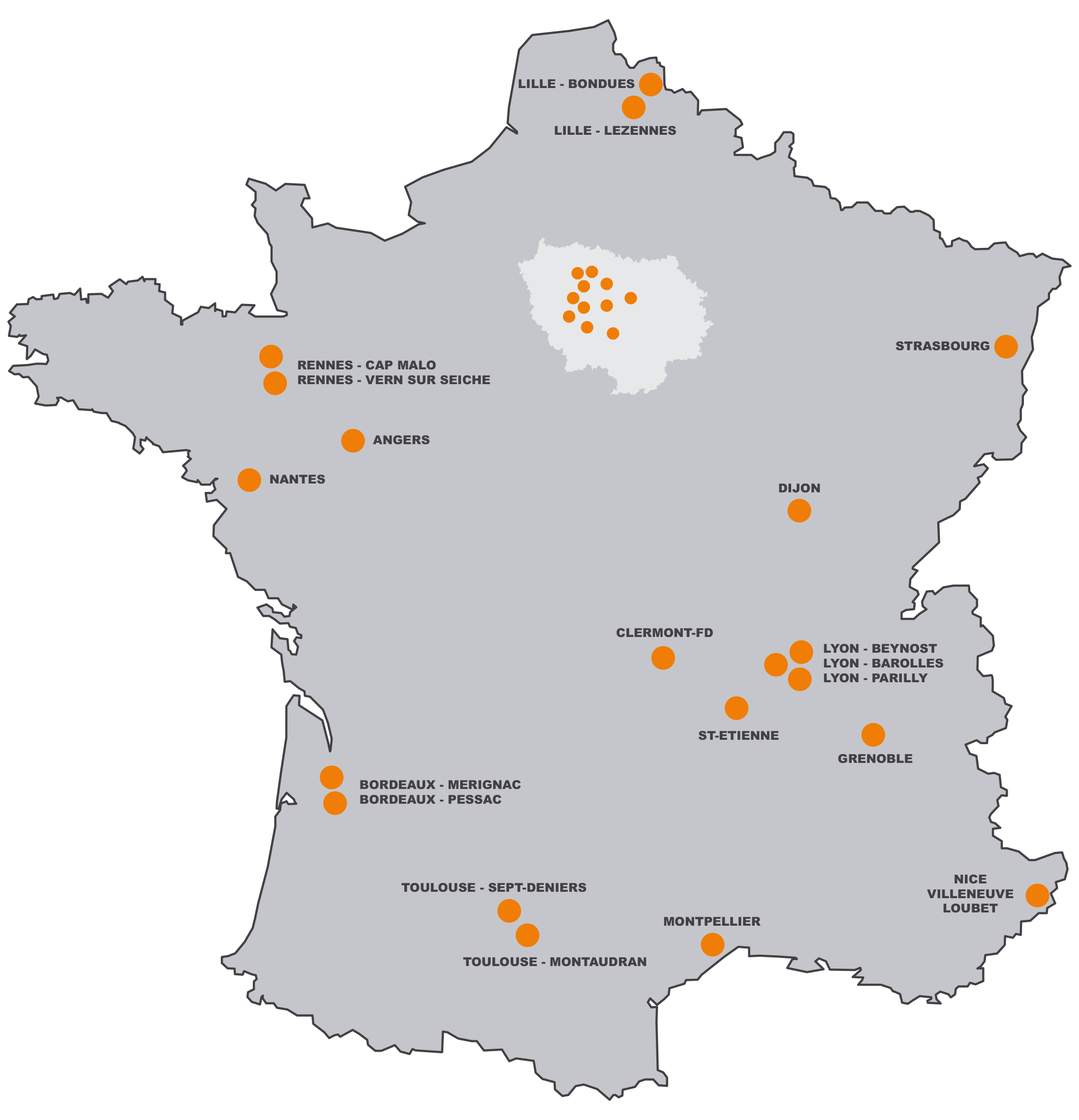 Carte France Urbansoccer