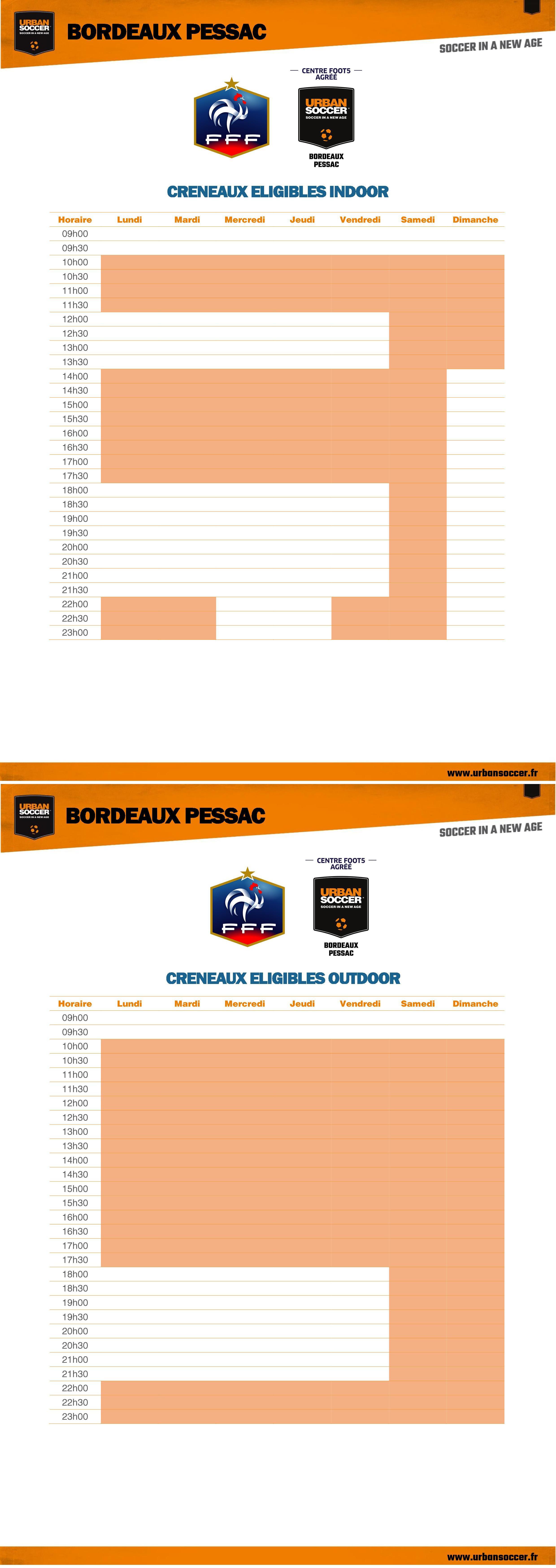 Heures FFF - Bordeaux Pessac