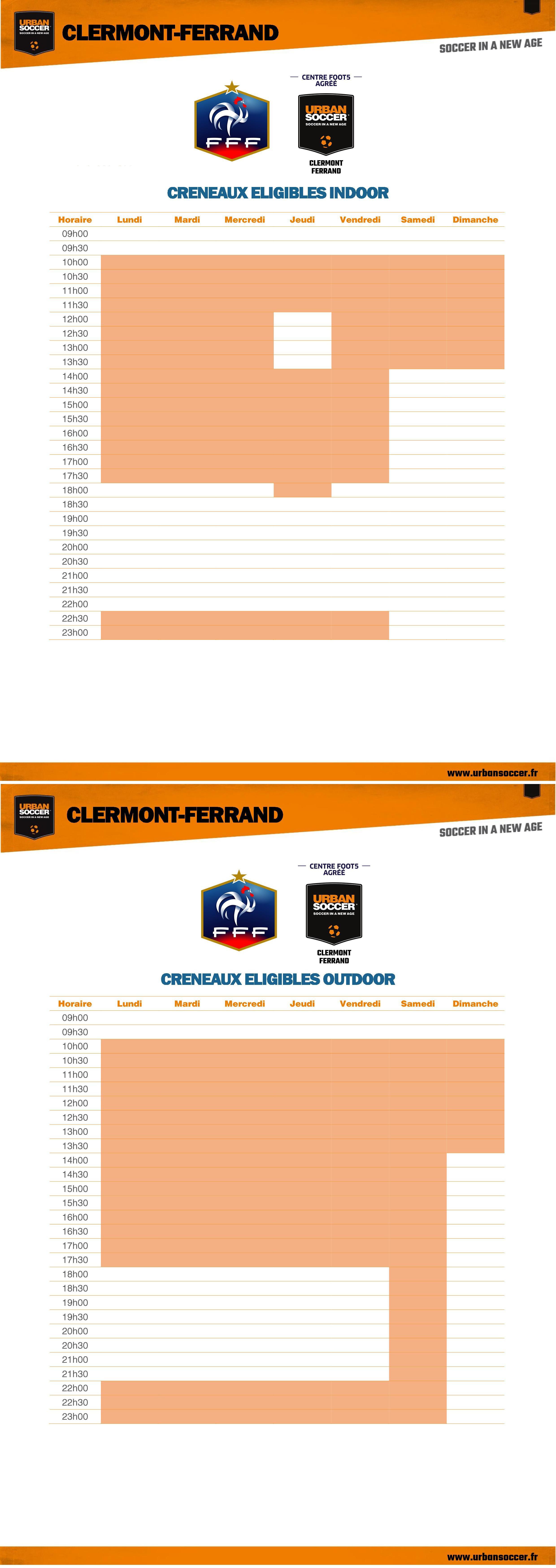 Heures FFF - Clermont Ferrand