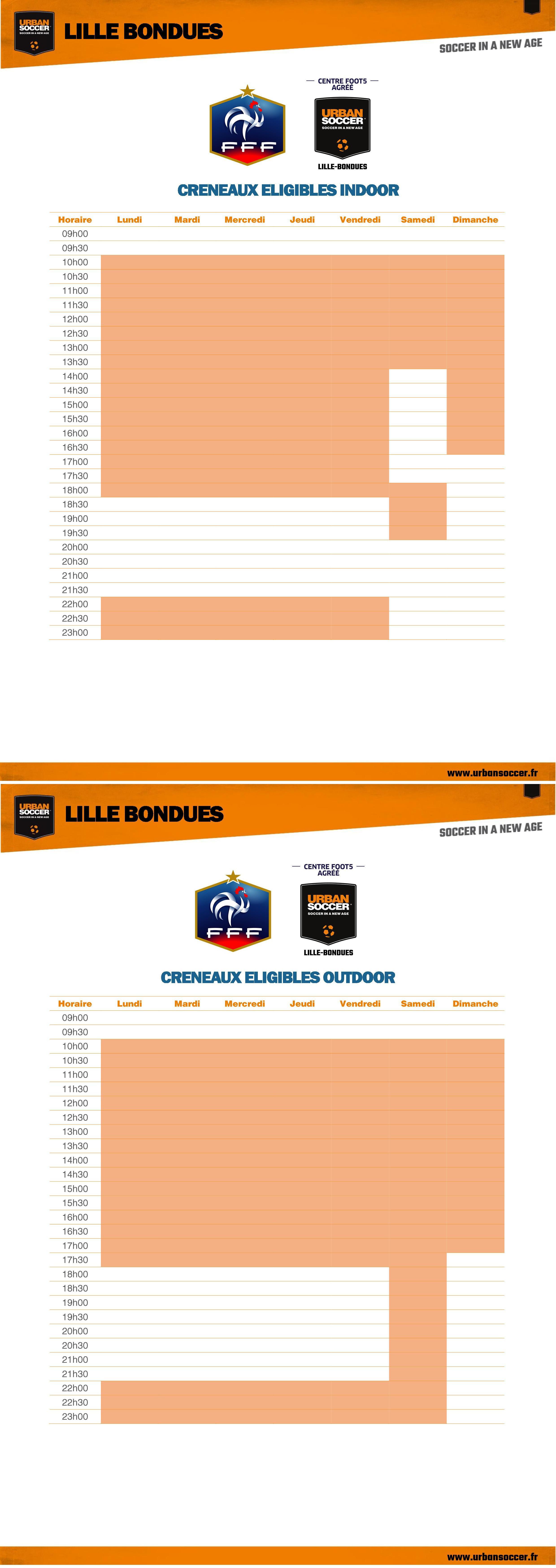 Heures FFF - Lille Bondues