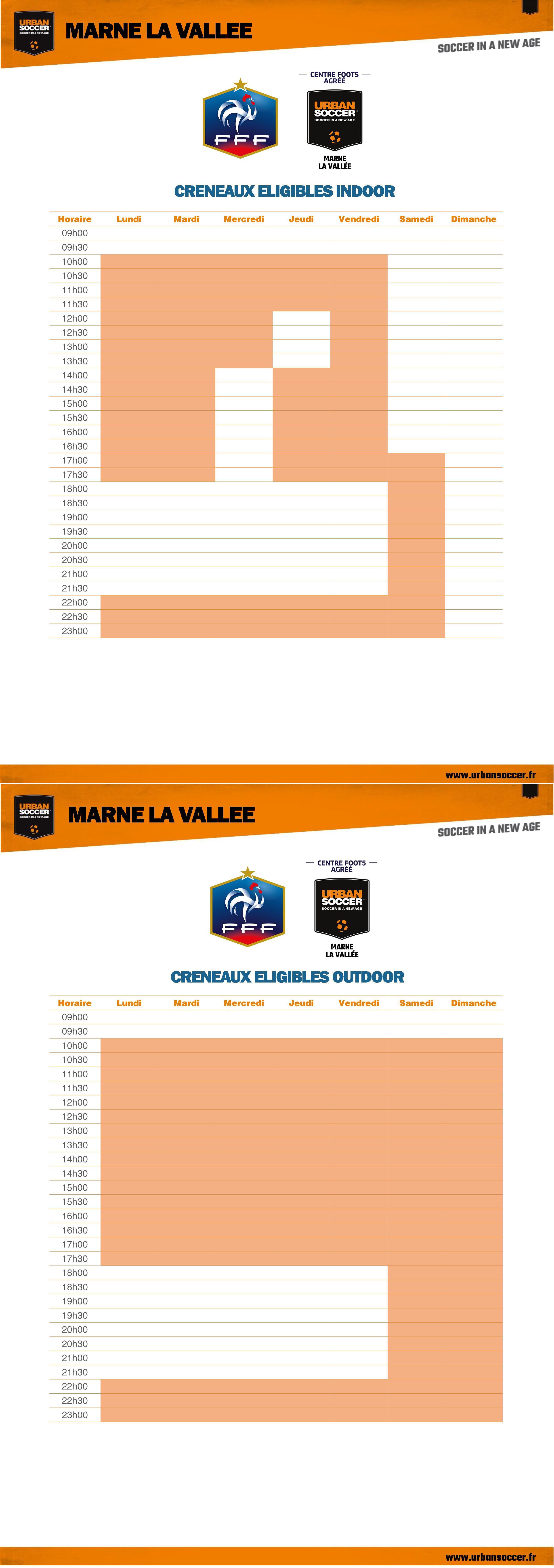 Heures FFF - Marne La Vallée