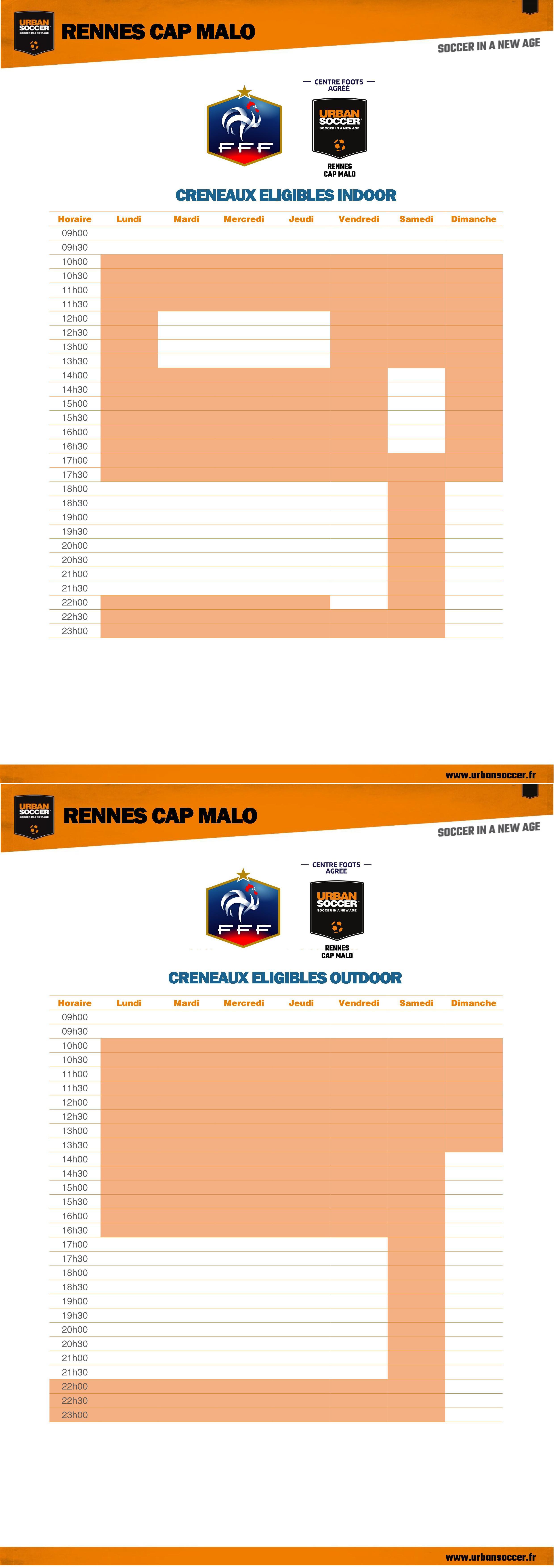 Heures FFF - Rennes Cap Malo